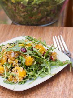 Vegan Acorn Squash Quinoa Salad with Cranberries and Pistachios Recipe