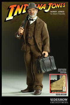 """Indiana Jones 12"""" Henry Jones - Exclusive with Grail Tablet"""