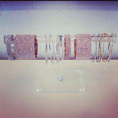 Swarovski crystal cuffs by LFR Designs.