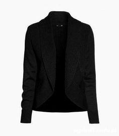 H&M czarny sweter narzutka 34 XS 36 S   Cena: 20,00 zł  #kardigan #sweterhm #czarneswetryhm