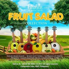 Ukuleles by Wagas Crafts - fruit salad collection