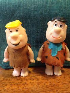 Vintage Hanna Barbera HBP Fred Flintstone And Barney Rubble Rubber Dolls  | eBay