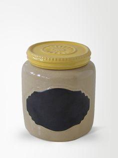 Pote de Ceramica Anelize Amarelo M | collector55 - loja de decoracao online - Collector55