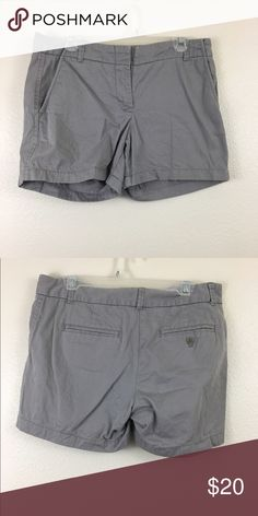 "J. Crew Grey Shorts EUC. J. Crew weathered broken in chino. Grey color 5"" inseam. J. Crew Shorts"