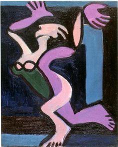 Dancing Female Nude, Gret Palucca - Ernst Ludwig Kirchner