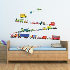 27 Transports Wall Stickers