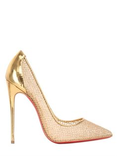 Gold Fishnet Christian Louboutin Pumps | buy it here: http://rstyle.me/~2ylE7