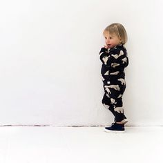 Onepiece Romper with Bear Print by Tinycottons - Junior Edition www.junioredition.com