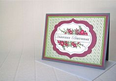 Happiest happy birthday card blank stamped by QuirkynBerkeleyCards, $6.00