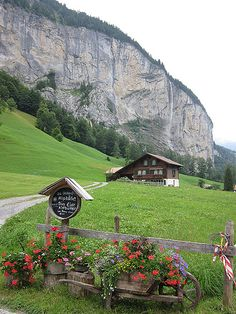 Switzerland - Lauterbrunnen mountains in Jungfrau region Places Around The World, Travel Around The World, Around The Worlds, Beautiful Places To Travel, Beautiful World, Beautiful Landscapes, Wonders Of The World, Places To See, The Good Place
