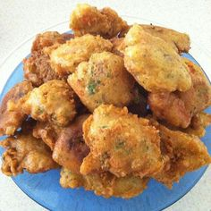 Haitian marinades are a spiced batter, deep-fried fritter. Marinades are made with  fish, chicken, and also vegetarian. It's quick and easy. It can also be made with cooked cod for the tradit…