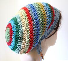 Dreads Tam Crochet Slouchy Beanie Hat. (for @Anna Cantrell)