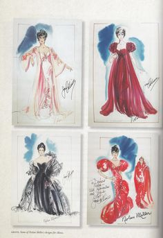 Nolan Miller's illustrations for Joan's character of Alexis, in the hit series Dynasty
