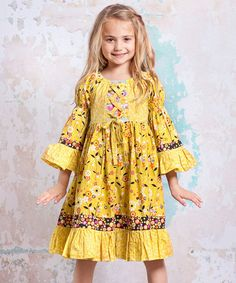 Take a look at this Bee Marquee Dress - Infant, Toddler & Girls by Jelly the Pug on @zulily today!