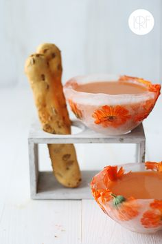 Gazpacho in an ICE BOWL! -- @Cori White you are the gazpacho making/ice carving queen, you could legit make this happen. :)