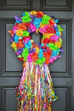 Fiesta Wreaths can be made in any color combination. Please contact me about Custom Color Bows for ANY THEME or OCCASION like Easter, Halloween, Christmas, 4th of July, etc.