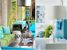 Decoración de salones en gamas de azul