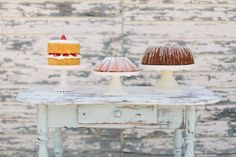 In case you don't want to do a wedding cake you can have pies and other small cakes
