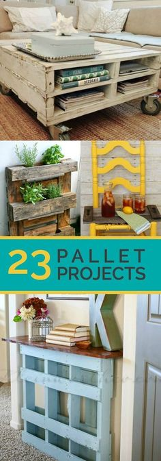 23 Awesome DIY Wood Pallet Ideas: I like the coffee table on the cover photo