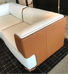 Sofa Seats, Sofa Chair, Sofa Bed, Sofa Furniture, Unique Furniture, Furniture Design, White Couches, Banquette Seating, Three Seater Sofa