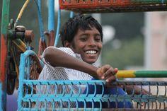Boy on a beach ride, Chennai, India