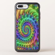 Funky Cool Psychedelic Fractal Spirals Pattern Speck iPhone Case - retro gifts style cyo diy special idea