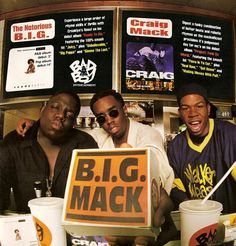 TBT Craig Mack, The Notorious B. and the dude that dances. Arte Hip Hop, Hip Hop Art, 90s Hip Hop, Hip Hop And R&b, Sean P Diddy Combs, Flava In Ya Ear, Bad Boy Entertainment, R&b Albums, Hip Hop Classics