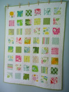 """""""Nicey Jane Charm Quilt: Front    A simple quilt made from Nicey Jane charms... I seem to have to use charms and other precuts before I dive into my yardage! Anyway I love how this came out... sweet and simple"""""""