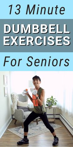 Strength Training For Beginners, Gym Workout For Beginners, Fitness Workout For Women, Workout Videos, Yoga Fitness, Health Fitness, Senior Workout, Senior Fitness, Dumbbell Workout