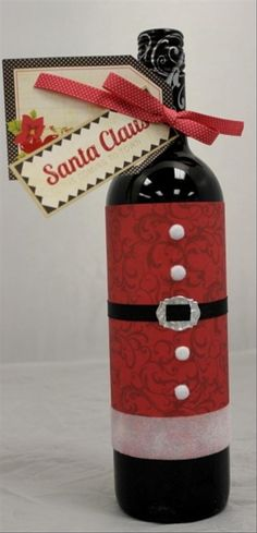 Wrap up glass of sparkling cider.               Fun Christmas Craft Ideas – 24 Pics