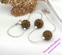 Barna Swarovski kristályos karkötő. Bővebben: www.princessilver.hu Crochet Earrings, Princess, Silver, Jewelry, Jewlery, Jewerly, Schmuck, Jewels, Jewelery