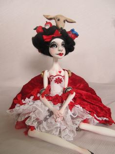 Ooak Art Doll  -Snow White doll -Handmade.