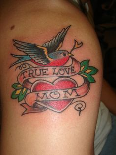 Only Swallow Tattoo: Traditional Swallow Bird Tattoos