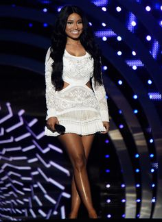 nicki minaj in roberto cavalli.