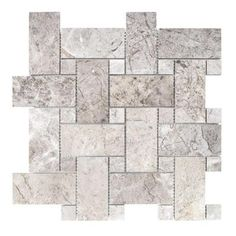 Knight Castle 12-7/8 in. x 12-7/8 in. x 10 mm Stone Mosaic Tile-99380 - The Home Depot