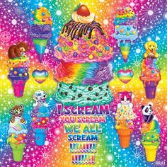 Ice cream ~ Lisa Frank