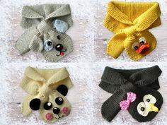 Jetzt mit der PDF-Anleitung Schals für Kinder mit vier verschiedenen Tiermotiven (Pinguin, Ente, Hund ++ Pandabär) stricken. Leg los mit der Wolle. Die fer