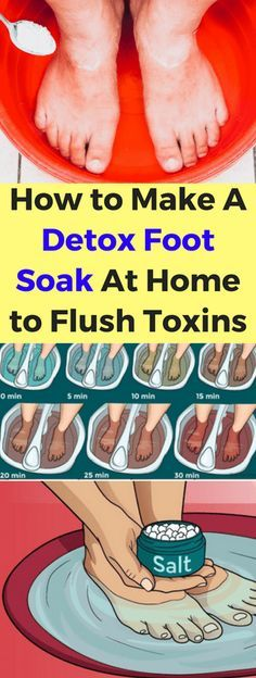 How To Make A Detox Foot Soak At Home To Flush Toxins!!! - All What You Need Is Here