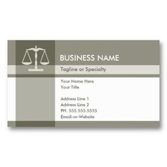 justice elegance business card