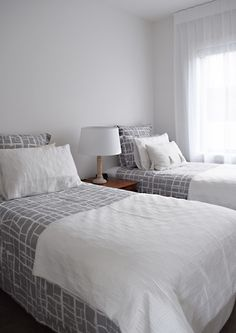 The guest bedrooms are ready to go, painted in Resene Half Black White Neutral Color Scheme, Colour Schemes, Interior Paint Colors, Paint Colours, French Style Homes, Single Bedroom, Guest Bedrooms, White Paints, Sweet Home