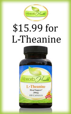 Buy L-Theanine at $15.99 at AbsorbYourHealth. This item is the most powerful and popular cognitive enhancers. Get hurry and avail this deal. For more #Absorb Health Coupon Codes visit: www.couponcutcode.com/stores/absorb-health/