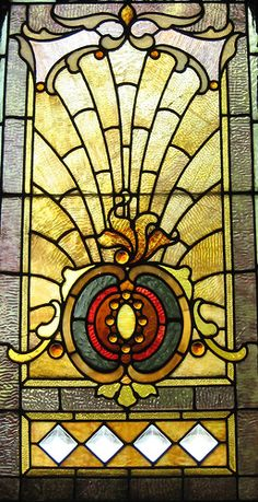 Terence Faircloth Stained Glass Stained glass window found at Architectural Artifacts in Chicago, Illinois.