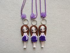 Violetta fimo Necklace polymer clay. by Artmary2 on Etsy, €12.00