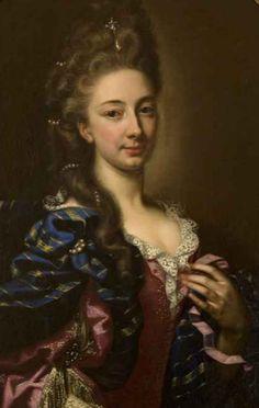 Princess Marie-Françoise de Bournonville of Poix by Hyacinthe Rigaud, 1692