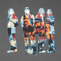 Beatles Poster Silhouettes Dark Grey Graphic TShirt