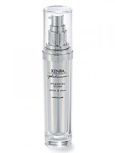 Kenra Silkening Gloss... Smells awesome. I mix it with miracle 10. Love!
