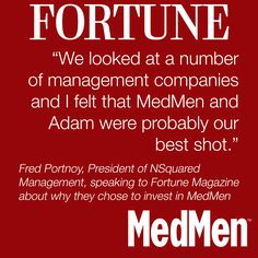 Did you read the profile of MedMen in Fortune Magazine? http://for.tn/1xfyZv2