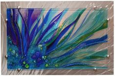 glass mounted on aluminum40 x 26 About the Artist Glass artist Cathy Shepherd's vibrant, spontaneous style allows her creative energy to flow freely as she exquisitely creates each of her glass art pieces. She fuses a collage of dynamic colors and shapes cut from iridescent transparent glass, layered together with dichroics cut into mosaics, blending in her hand made glass rocks, nuggets and vitrograph waves for more visual energy. Cathy strives to create art that is beyond her expectations…