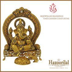May the blessings of Lord Ganesha be always upon you. Happy Ganesh Chaturthi. #HazoorilalBySandeepNarang #HazoorilalCelebrates #GaneshChaturthi #Since1952 #Glorious65years #DlfEmporio #ItcMaurya #HazoorilalJewellers #Hazoorilal