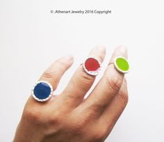 Color silver ring /red siver ring/boho silver ring by AthenArt Greek Jewelry, Jewelry Rings, Bohemian Rings, Silver Rings Handmade, Color Ring, Gemstone Rings, Give It To Me, Jewels